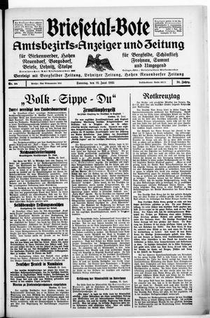Briesetal-Bote vom 23.06.1935