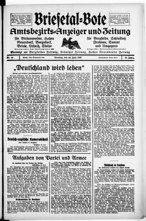 Briesetal-Bote vom 25.06.1935