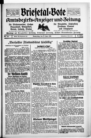 Briesetal-Bote vom 27.06.1935