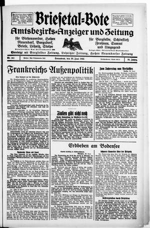 Briesetal-Bote vom 29.06.1935