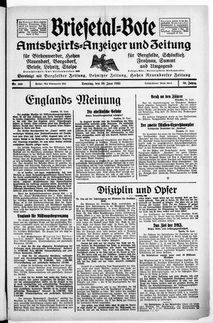 Briesetal-Bote vom 30.06.1935