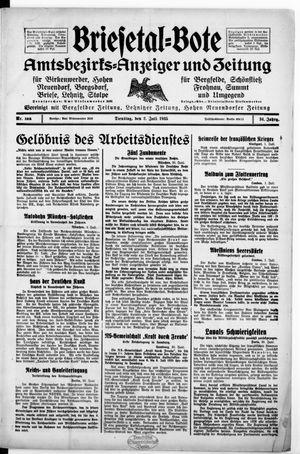 Briesetal-Bote vom 02.07.1935