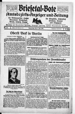 Briesetal-Bote vom 04.07.1935
