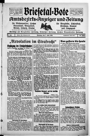 Briesetal-Bote vom 07.07.1935