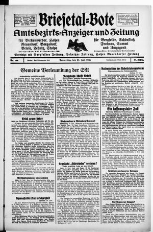 Briesetal-Bote vom 11.07.1935