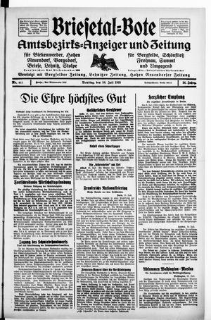 Briesetal-Bote vom 16.07.1935