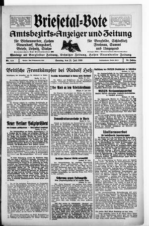 Briesetal-Bote vom 21.07.1935