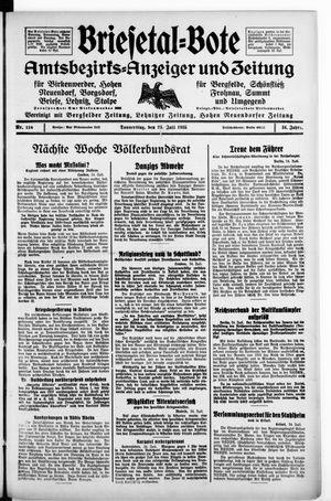 Briesetal-Bote vom 25.07.1935