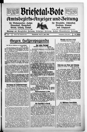 Briesetal-Bote vom 27.07.1935