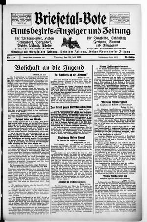 Briesetal-Bote vom 30.07.1935