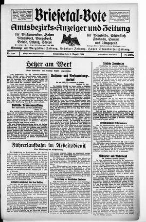 Briesetal-Bote vom 01.08.1935