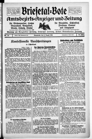 Briesetal-Bote vom 03.08.1935