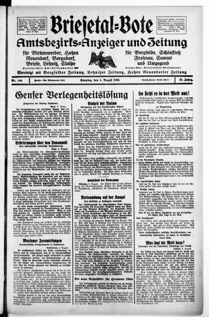 Briesetal-Bote vom 04.08.1935