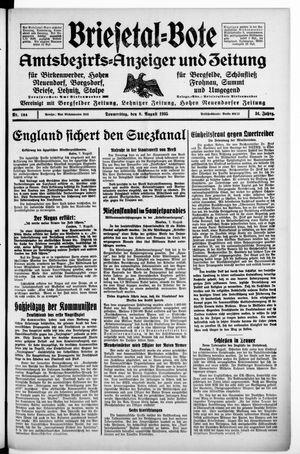 Briesetal-Bote vom 08.08.1935