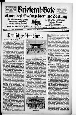 Briesetal-Bote vom 17.08.1935