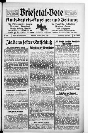 Briesetal-Bote vom 18.08.1935