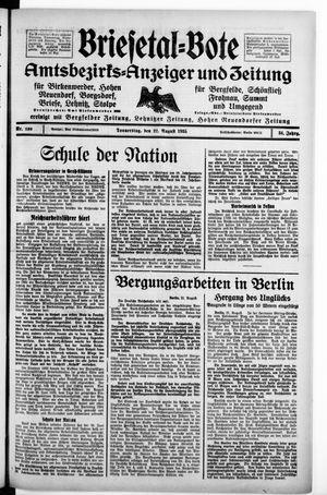 Briesetal-Bote vom 22.08.1935