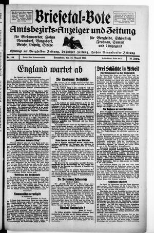 Briesetal-Bote vom 24.08.1935