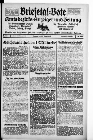 Briesetal-Bote vom 25.08.1935