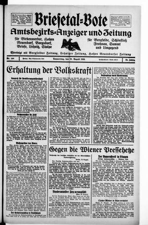 Briesetal-Bote vom 29.08.1935