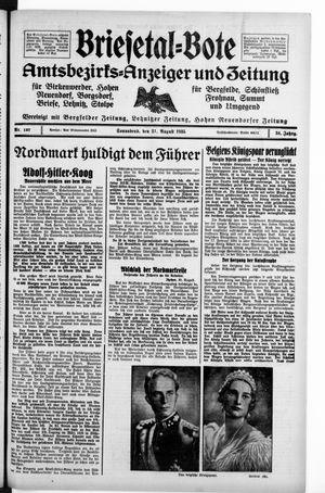Briesetal-Bote vom 31.08.1935