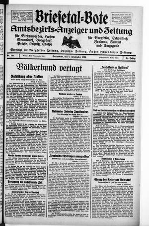 Briesetal-Bote vom 07.09.1935