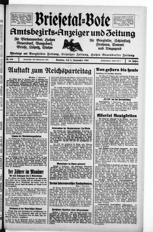 Briesetal-Bote vom 08.09.1935