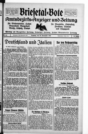 Briesetal-Bote vom 10.09.1935