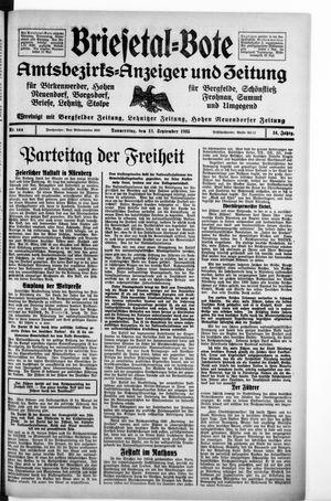 Briesetal-Bote on Sep 12, 1935