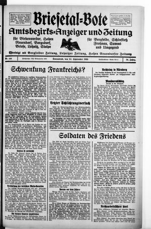 Briesetal-Bote vom 14.09.1935