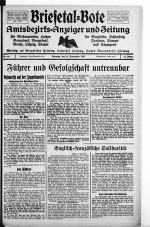 Briesetal-Bote vom 15.09.1935