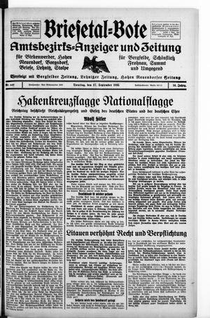 Briesetal-Bote vom 17.09.1935