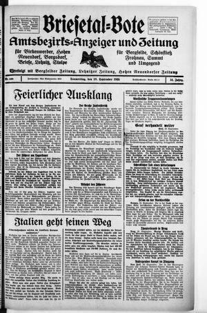 Briesetal-Bote vom 19.09.1935