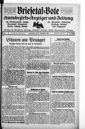 Briesetal-Bote vom 21.09.1935