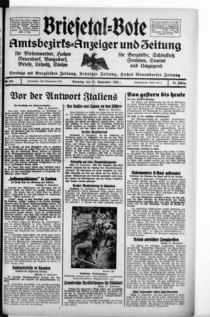 Briesetal-Bote on Sep 22, 1935