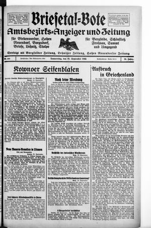 Briesetal-Bote vom 26.09.1935