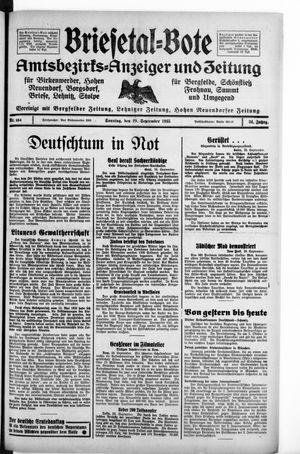 Briesetal-Bote vom 29.09.1935