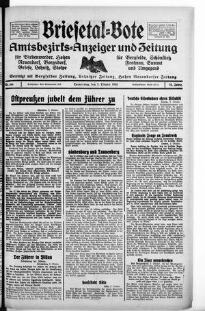 Briesetal-Bote vom 03.10.1935