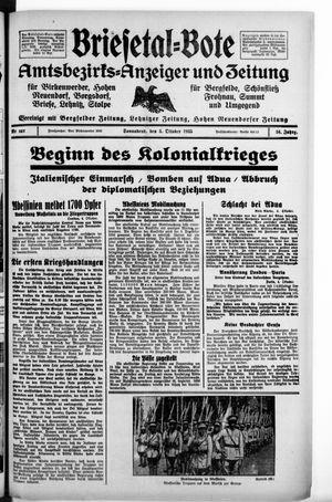 Briesetal-Bote vom 05.10.1935