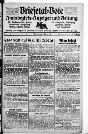 Briesetal-Bote vom 08.10.1935