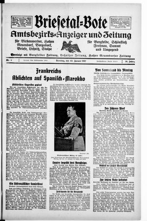 Briesetal-Bote vom 12.01.1937