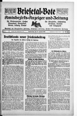 Briesetal-Bote on Jan 14, 1937
