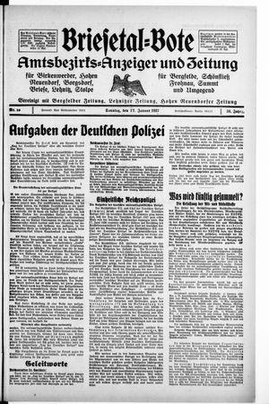 Briesetal-Bote vom 17.01.1937