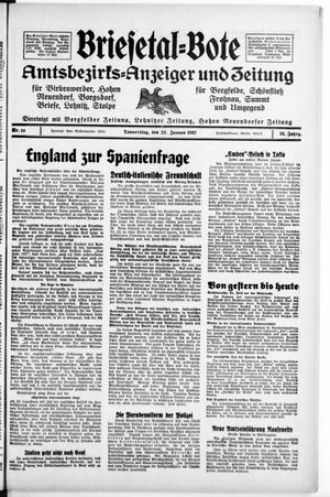 Briesetal-Bote vom 21.01.1937