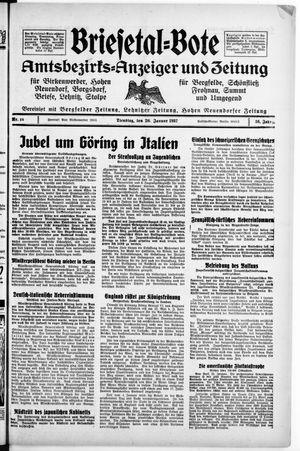 Briesetal-Bote on Jan 26, 1937