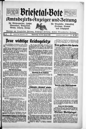 Briesetal-Bote vom 28.01.1937