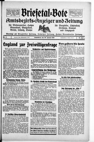 Briesetal-Bote vom 30.01.1937