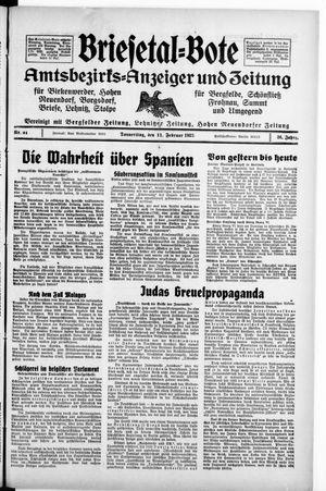 Briesetal-Bote vom 11.02.1937
