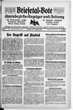 Briesetal-Bote vom 14.02.1937