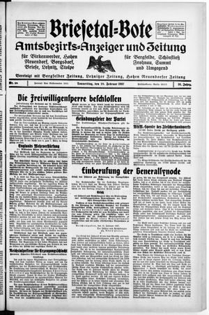 Briesetal-Bote vom 18.02.1937